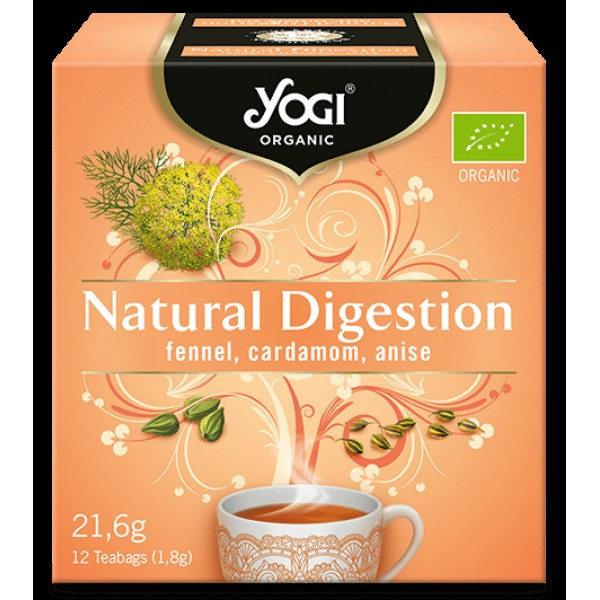 Био Чай Храносмилане, Yogi Organic, 12 пакетчета