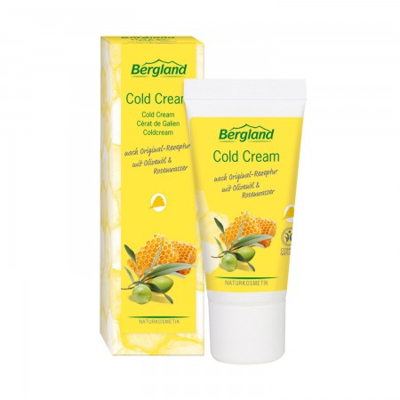 Cold cream за суха и раздразнена кожа с охлаждащ ефект, с розова вода, хипоалергенен 30 мл